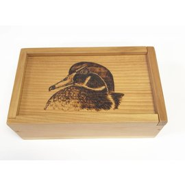 Woodburning By Gail Wood Box - Duck
