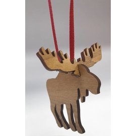 Laserkrafts Wooden Lasercut 3D Moose Ornament