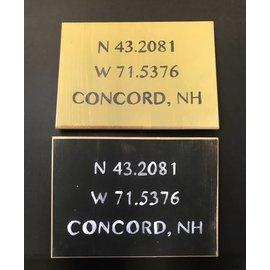Cedar Porch Designs Wood Sign - Concord NH Longitude / Latitude