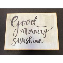Cedar Porch Designs Wood Sign - Good Morning Sunshine