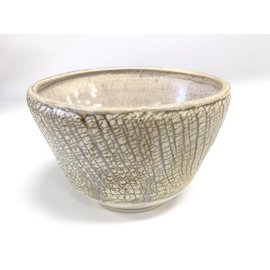 Tricia Eisner Ceramic Crackle Glazed Bowl