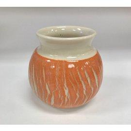 Tricia Eisner Crackle Glaze Ceramic Vase