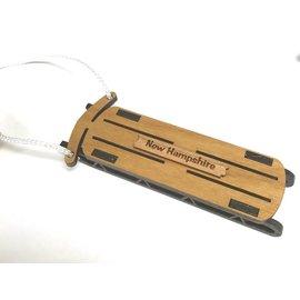 Laserkrafts Wooden Sled Ornament