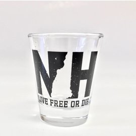 Granite State Apparel NH Live Free or Die Shot Glasses