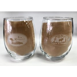 Glass Graphics Etched Stemless Wine Glass