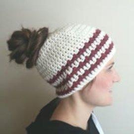 White Mountain Yarnery Messy Bun Hat