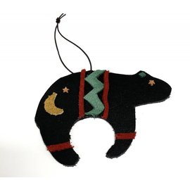 Log Cabin Leather by Jan Leather Spirit Bear Ornament