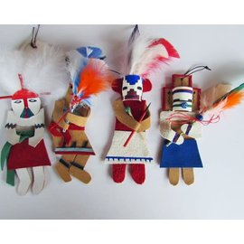 Log Cabin Leather by Jan Leather Kachina Ornament