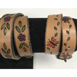Log Cabin Leather by Jan Leather Double Wrap Bracelet