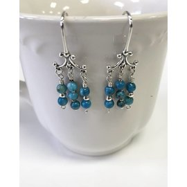 Patty Roy Jewelry Sterling Silver and Howlite Earrings