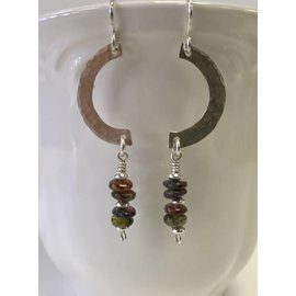 Patty Roy Jewelry Sterling Silver and Tourmaline Earrings