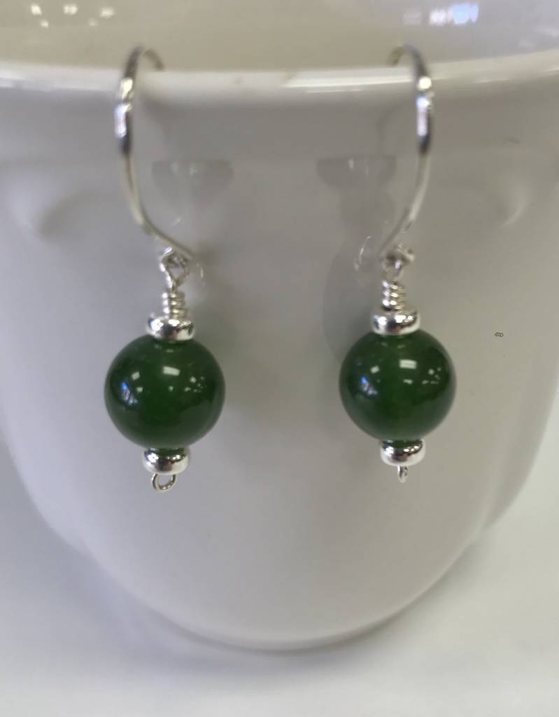 Patty Roy Jewelry Sterling Silver and Jade Earrings - Marketplace ...