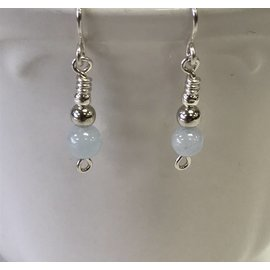 Patty Roy Jewelry Sterling Silver and Aquamarine Earrings