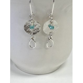 Patty Roy Jewelry Sterling Silver and Apatite Earrings