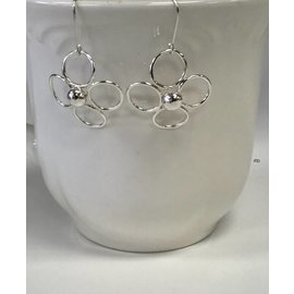 Patty Roy Jewelry Sterling Silver Flower Earrings