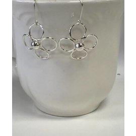 Patty Roy Jewelry Sterling Silver Flower Earrings