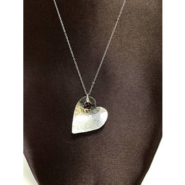 Patty Roy Jewelry Sterling Silver Heart Necklace with Garnet