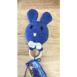 White Mountain Yarnery Bunny Teething Ring