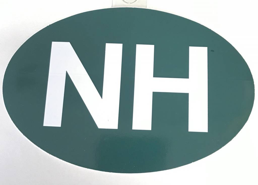 Oval NH Decal / Sticker - Marketplace New England, Inc