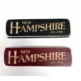 Eastern Illustrating Wood New Hampshire Magnet or Shelf Sign