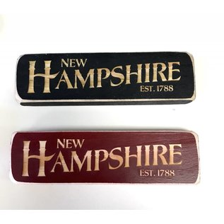 Eastern Illustrating Wood New Hampshire Magnet / Shelf Sign