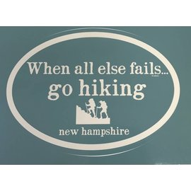 Eastern Illustrating New Hampshire Go Hiking Decal / Sticker