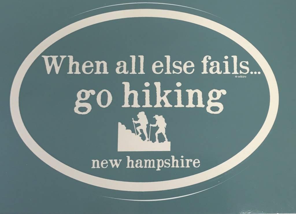 New Hampshire Go Hiking Decal / Sticker - Marketplace New England, Inc