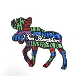 Eastern Illustrating New Hampshire Moose Rubber Magnet