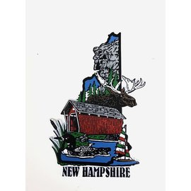 Eastern Illustrating New Hampshire Iconic Images Rubber Magnet