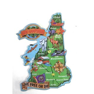 Eastern Illustrating New Hampshire Map Acrylic Magnet