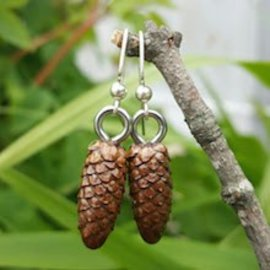 Terra Basics Pinecone Earrings