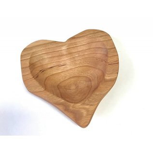 RJM Woodworks Cherry Heart Dish