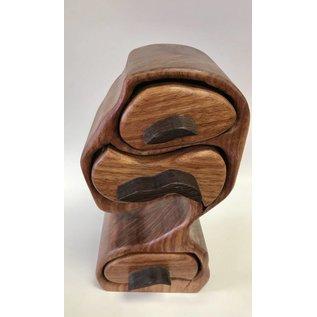 George Schiller Jr. Three Drawer Wood Box