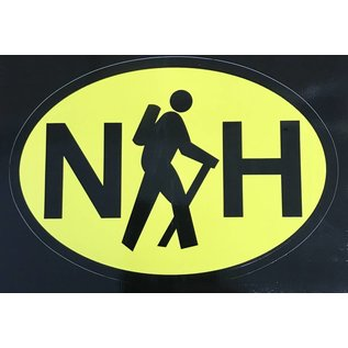 Eastern Illustrating NH Hike Decal / Sticker (yellow)