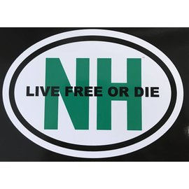 Eastern Illustrating Live Free or Die NH Decal / Sticker (green)