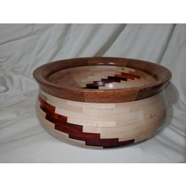 """Dave Designs """"Double Stairway"""" Wood Bowl"""
