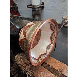 "Dave Designs ""Wedding Tent"" Wood Bowl"