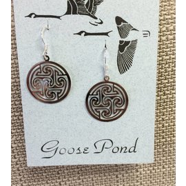 Goose Pond Celtic Circle Earrings - Rhodium
