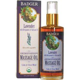 W.S. Badger Massage Oil - Lavender Aromatherapy - 4 oz