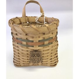 Diane Perry-Mann Wall Pocket Basket with Owl
