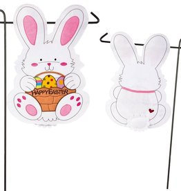 Easter miche designs and gifts easter bunny garden felt flag negle Images