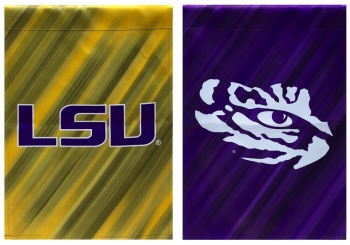 Suede LSU Tiger Double Sided Garden Flag