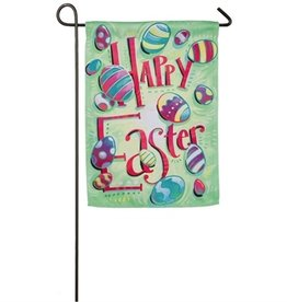 Garden flags miche designs and gifts happy easter garden suede flag negle Images