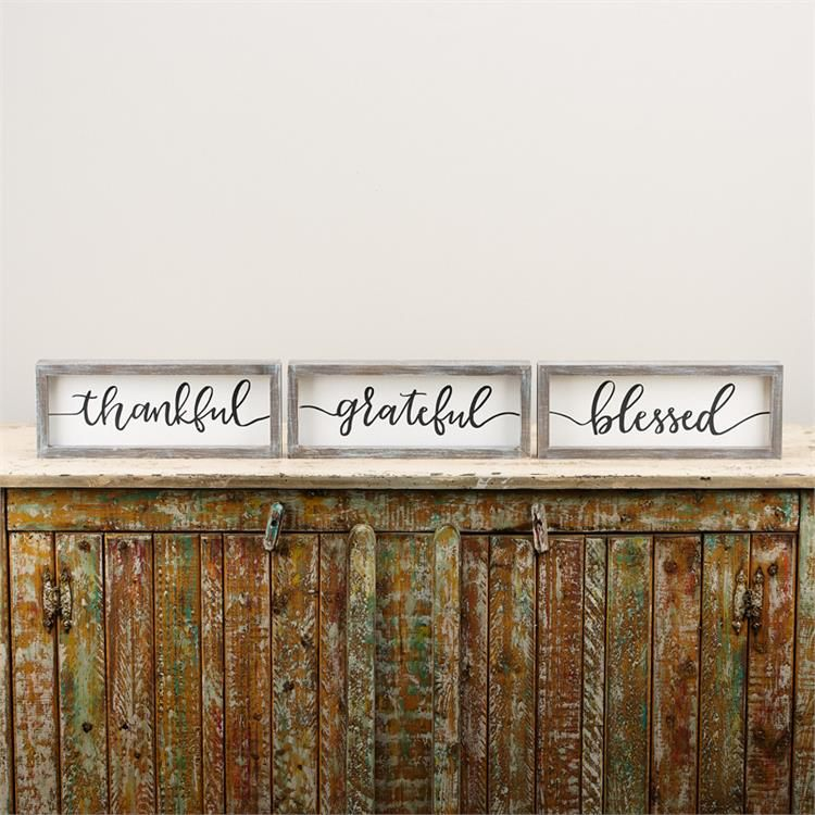 THANKFUL GRATEFUL BLESSED/ OH HOLY NIGHT FRAMED BOARDS - Miche ...