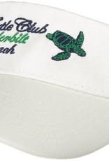 Turtle Club White Legacy Visor