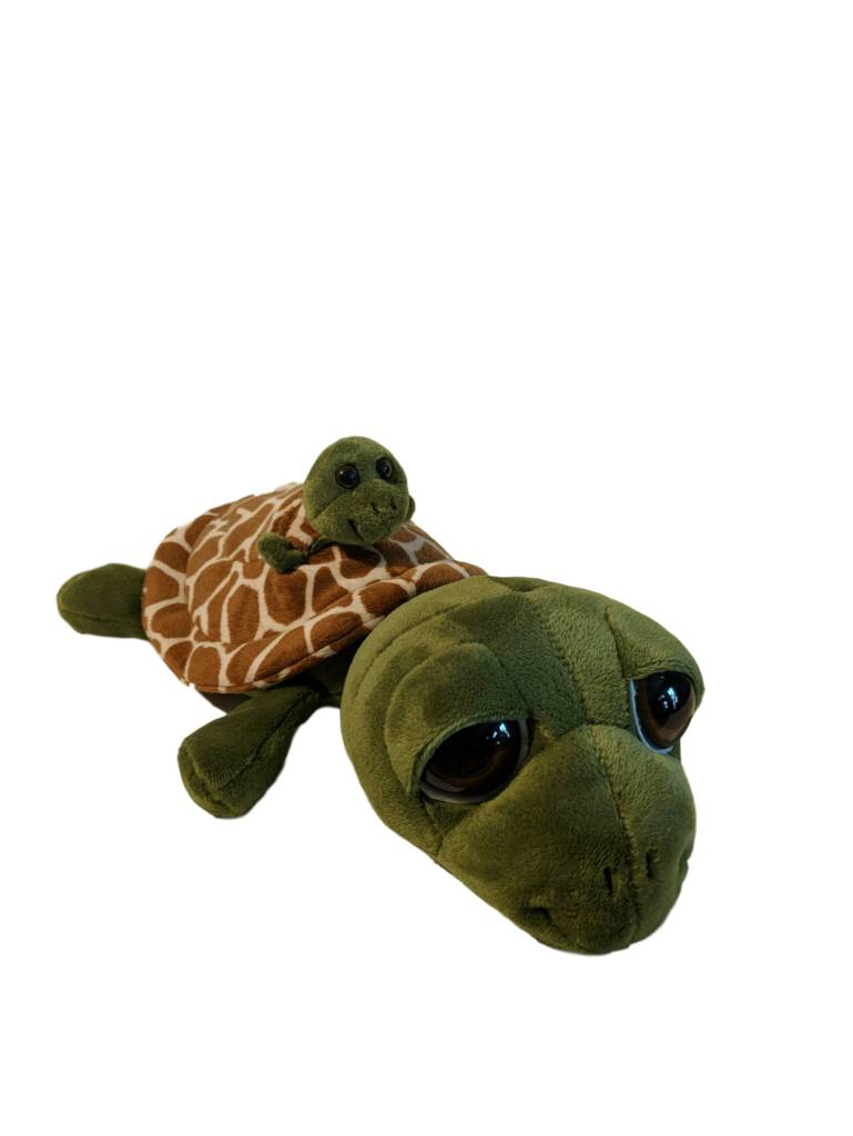 Bright Eyes Plush Sea Turtle w/Baby