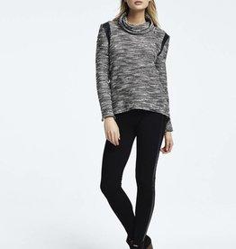 Ladies' Legging w/ Vegan Leather Stripe