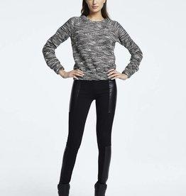 Womens Melange Crop Sweater