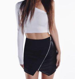 Cara Cheung Optic Mesh Moto Skirt