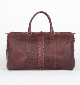 Monte & Coe Oxblood leather duffel